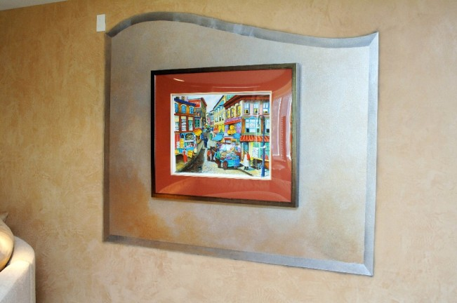 Custom wall treatment; frame within a frame