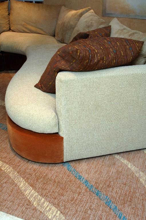 Detail of custom carpet design
