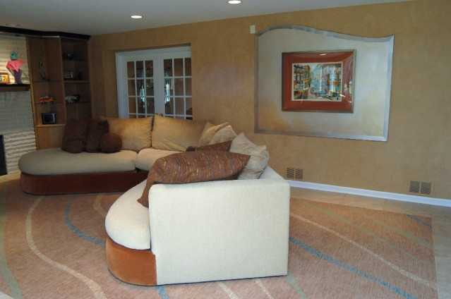 Family Room wall to wall custom carpet