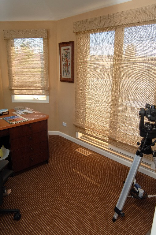 Woven Wood blinds add warmth to office