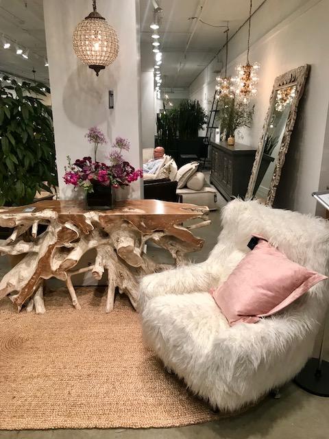 Classic Home raw edge wood table