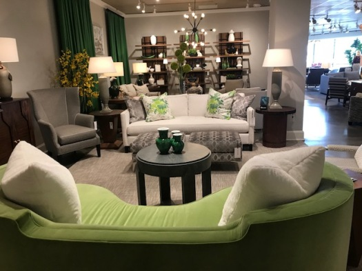 CR Laine lime green sofa and creams HPMKT 2018