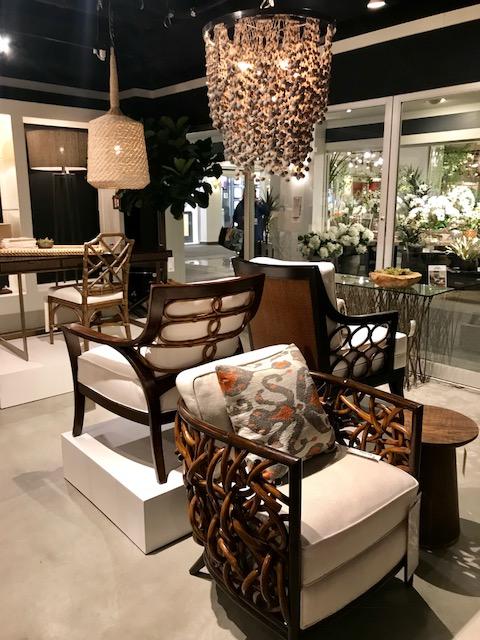 Palecek chairs and bead light HPMKT 2018